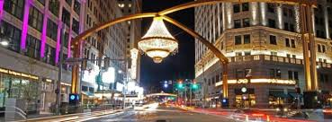 the giant centerpiece was designed by general electric to withstand the unpredictable cleveland weather