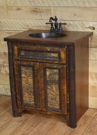 custom rustic lodge 36 vanity bark furniture