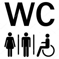 男性女性車椅子トイレ サイン ストックベクター Opicobello 122778152