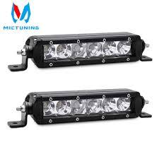8 Inch Led Light Bar Mictuning 2pcs 8 Inch 30w Slim Single Row White Led Work Light Bar Offroad Driving Lamp Spot Flood Combo Fog Lamp 12v 24v Dc
