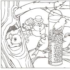 Small Picture Winter Scene Coloring Pages Coloring For Kids 4293