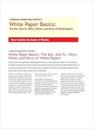 White Paper Sample Template Technical Free Download Outline Example