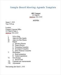 Agenda Outlines Templates Agenda Outline Templates 10 Free Word Pdf Format