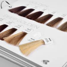 Detachable Synthetic Hair Swatch Color Chart For Hair Dye