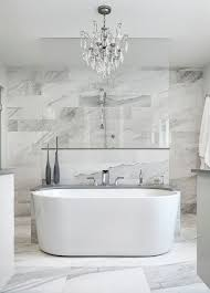 All-Over Marble Tile Bathroom