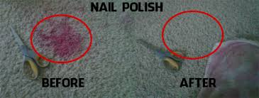 nail polish on carpet how to get out