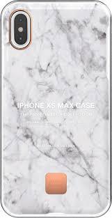 <b>Клип</b>-<b>кейс Happy Plugs для</b> Apple iPhone XS Max White Marble ...