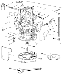 Craftsman model 315175170 router genuine parts rh searspartsdirect makita router parts diagram router parts identification