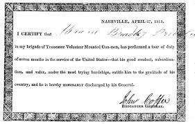 A W Bradley A Confederate In Company E Of The 30th Tennessee