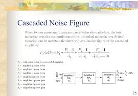 25 cascaded noise figure when two or more amplifiers are cascaded as shown below the