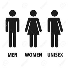 トイレの性別アイコン 男女男女兼用ベクトル記号を分離しました
