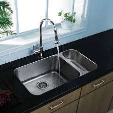 KRAUS Farmhouse Apron Front Stainless Steel 33 In Double Bowl Home Depot Stainless Steel Kitchen Sinks
