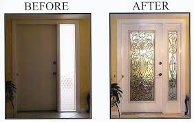 entry door glass insert replacement impressive good front for lowe cost repair design decorating ideas 25