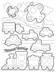 … vehicles and automobiles are among the most sought after coloring page subjects with tractor coloring sheets being one … Transportation Coloring Page Printable Free By Stephen Joseph Gifts With Images Preschool Coloring Pages Coloring Pages Cute Coloring Pages