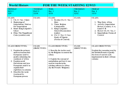 world history for the week starting