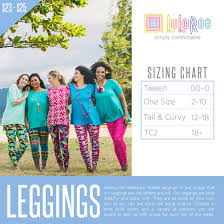 Size Chart For Lularoe The New Lularoe Tc2 Leggings Have Arrived Direct Sales