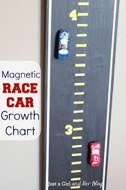 Magnetic Race Car Growth Chart Boy Car Room Kids Room