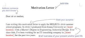 How To Write A Good Motivation Letter Edunation