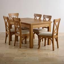 Taunton Rustic Solid Brushed Oak Dining Set - 4ft 7 Extending ...