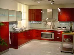 Kitchen With Red Appliances Nice Beautiful Modern Kitcheen With Wooden Red Cabinet And Granite
