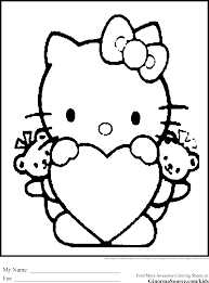Coloring Pages Hello Kitty Stop Bullying