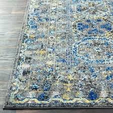 blue traditional rug hap gray and wool green