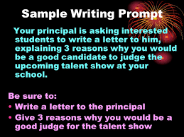 Why Would You Be A Good Candidate Sample Writing Prompt Your Principal Is Asking Interested Students