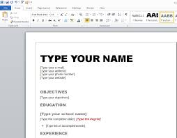 How To Create A Resume On Microsoft Word How To Create A Resume With