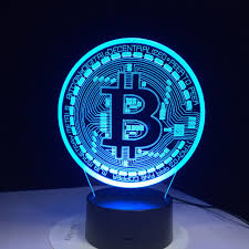 <b>3D Led Lamp</b> Bitcoin Sign Modelling Night <b>Lights</b> 7 Colorful Usb ...