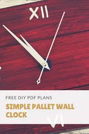 simple pallet wall clock