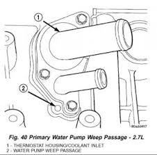 2004 chrysler sebring water pump engine cooling problem 2004 water pump removal 2 7l