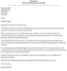 Java Developer Cover Letter Example Icover Org Uk