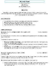 Sample Bartender Resume Berathen Com