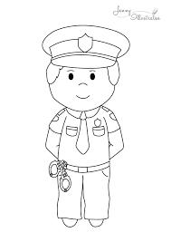 Kleurplaat Politieman Google Zoeken Carnaval Politie Agenten