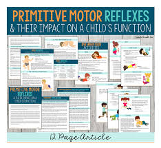 Infant Reflex Integration Chart Primitive Motor Reflexes Their Impact On A Childs