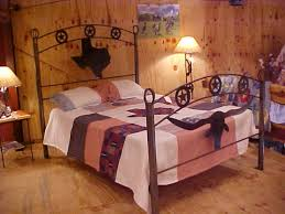 bed metal stars over texas longhorn bedroom rockin l designs
