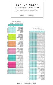 Simply Clean Cleaning Routine at a Glance Free Printable