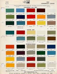 Chevy Stock Chart Factory Blazer Colors The 1947 Present Chevrolet Gmc