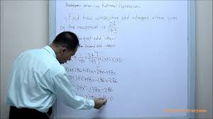 problems involving rational expression example1 class for everyone you