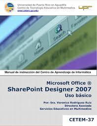 Microsoft Office Sharepoint Designer 2007 Custom PDF De Programación SharePoint Designer 48 Uso Básico