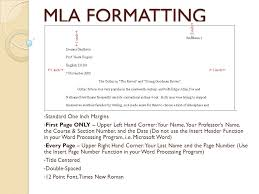 Standard Mla Format Mla Formatting Ppt Video Online Download