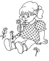 Spelletjes Voor Kinderen Kleurplaat Meisje