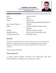 CURRICULUM VITAE QA/QC Piping Inspector/welding inspector / Welding  Supervisor PERSONAL BACKGROUND: ...