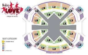 Circus De Soleil Seating Chart The Beatles Love By Cirque Du Soleil