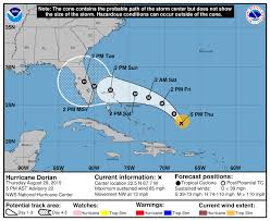Noaa Spaghetti Charts Hurricane Dorian Heads For Florida Expected To Be Category