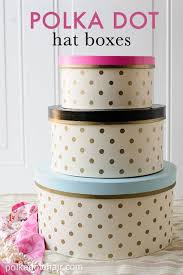 Decorated Hat Boxes How to decorate hat boxes Polka Dot Hat box tutorial 2