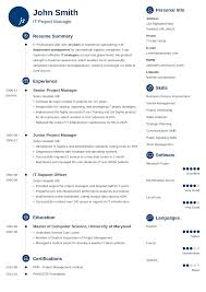 Cv Template Zety Resume Samples Cv Template Resume Examples