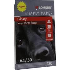 <b>LOMOND</b> 0102155 (<b>A4</b>, 50 листов, 230 г / м2) <b>бумага</b> глянцевая ...