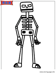 Small Picture minecraft skeleton Coloring pages Printable