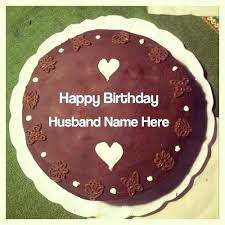Birthday Wishes For Husband Name On Cake Happy Birthday Dear Hubby